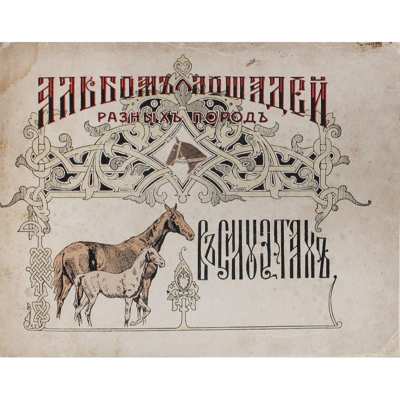 Альбом разных русских и иностранных пород лошадей Животные и Растения